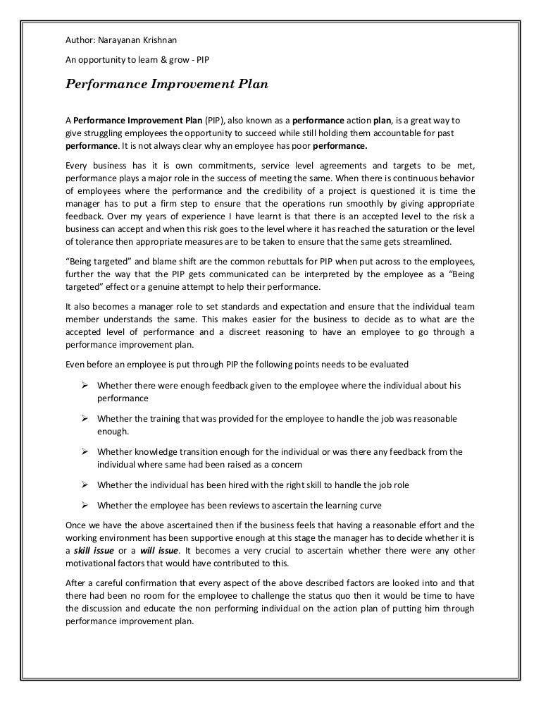 Performance Improvement Plan. Food Safety Performance Improvement ...