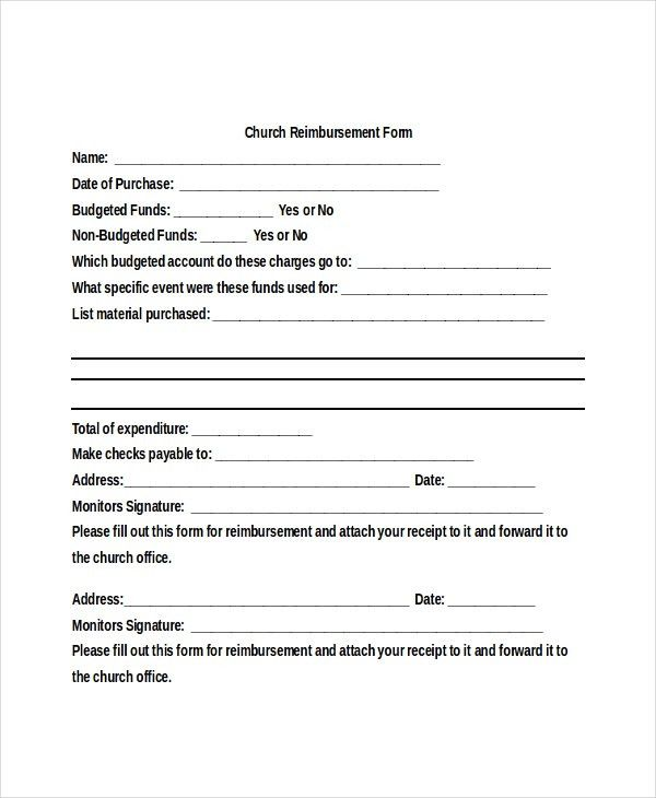 Sample Reimbursement Form - 17+ Free Documents in PDF, Doc