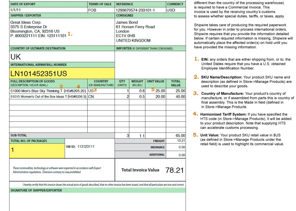 Occupyhistoryus Splendid Invoice Shipping Shipping Invoice Clover ...