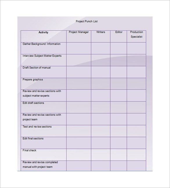 Project Manual Template. Project Manual Template Sample Project ...
