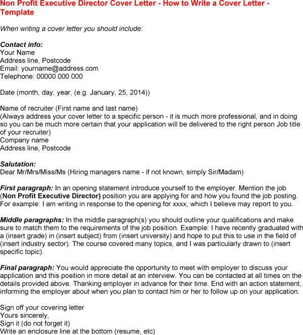Executive Director Cover Letter Best Cover Letters for Employment ...
