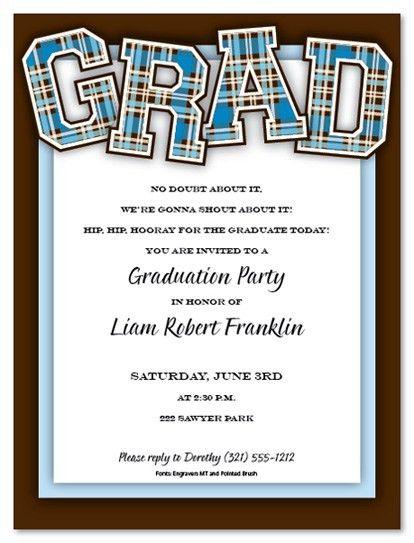 Graduate Invites: Incredible College Graduation Party Invitation ...