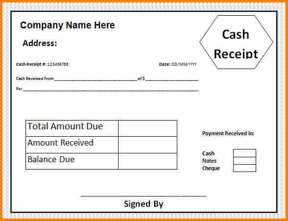 Bill Payment Receipt Format [Template.billybullock.us ]