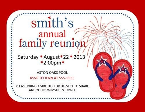 Family Reunion Party Picnic Grill Out Cookout Invitation Flip ...
