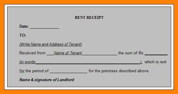 Lease Receipt Template. Rental Receipt Template – 30+ Free Word ...