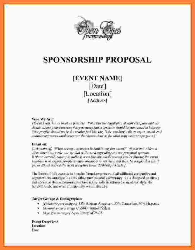 6+ event sponsorship proposal template free | Bussines Proposal 2017