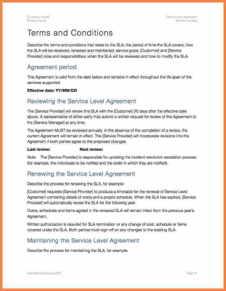 8+ training service level agreement template | Purchase Agreement ...