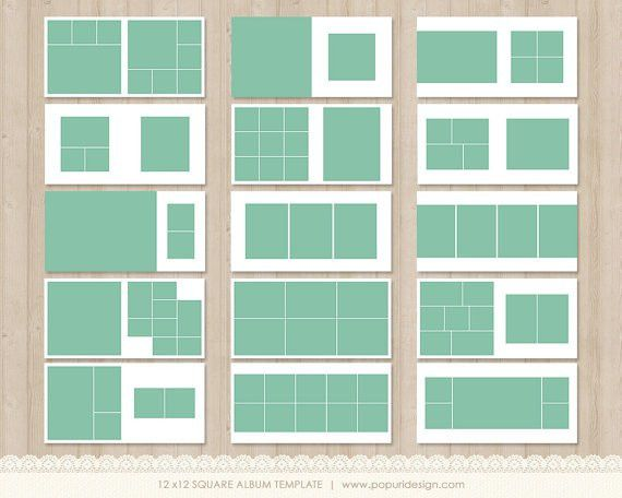 15 spreads (30 facing pages) 12x12in album templates for ...