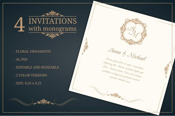 Free Editable Wedding Invitation Templates | wblqual.com