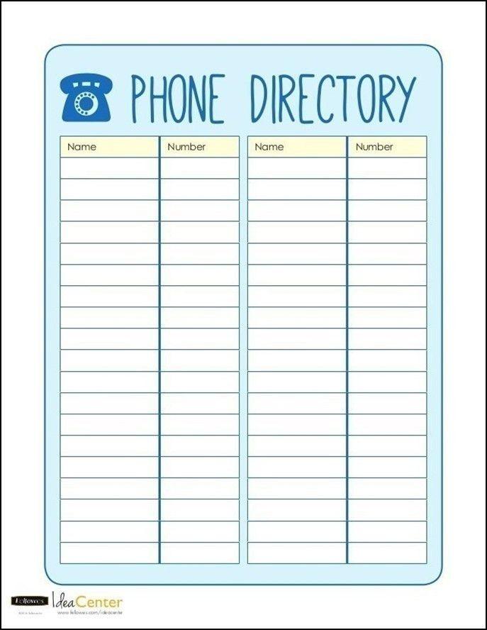 Phone Book Template Excel - Contegri.com