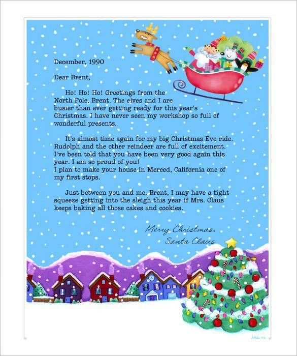Christmas Card Letter Templates 2017 | Best Template Examples