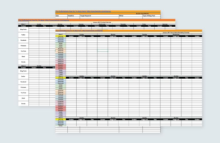 Content Calendar Template: How to Get Crazy Organized - CoSchedule