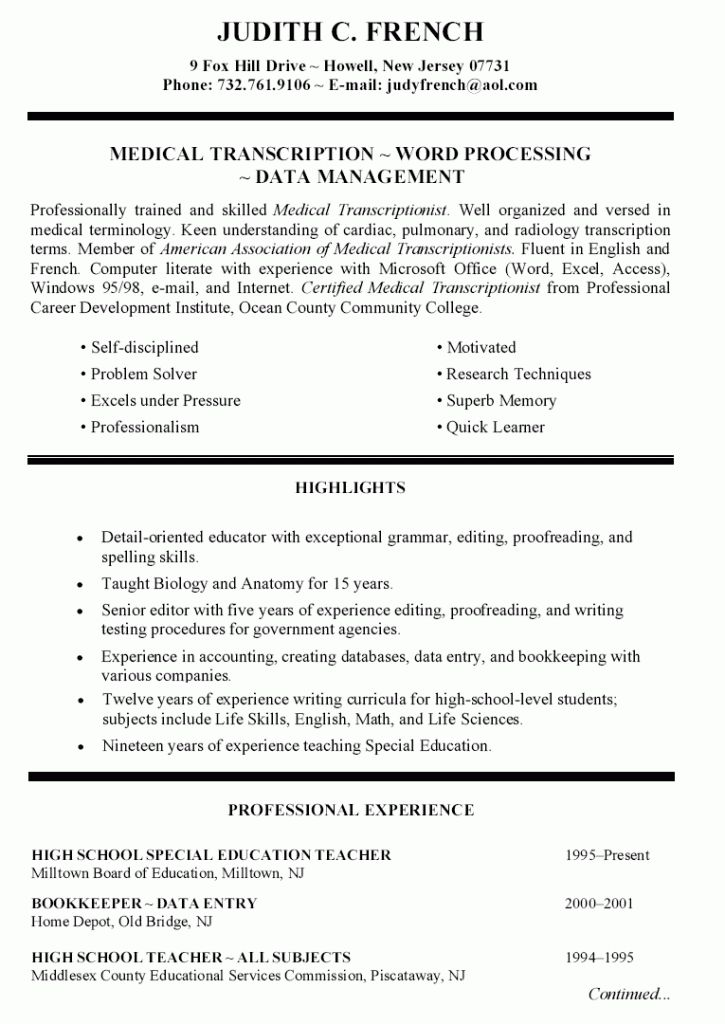Resume Examples. best 10 resume templates education download ...