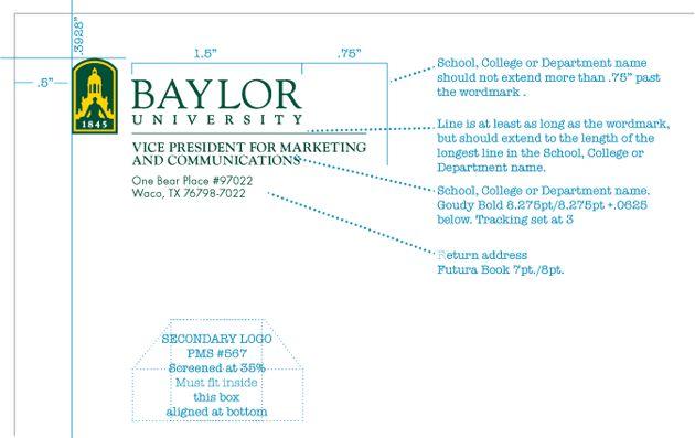Stationery   Graphic Standards   Baylor University