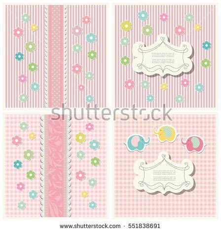 Set Vintage Doodle Scrap Booking Template Stock Vector 552566968 ...