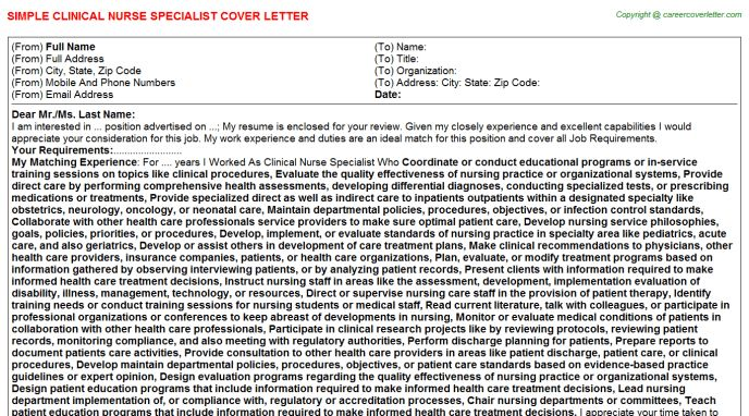Unit Supply Specialist Cover Letter