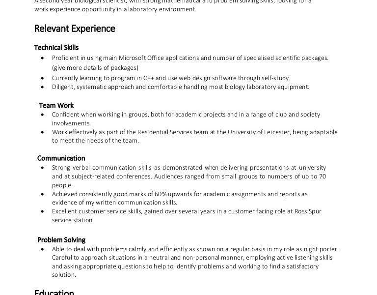 Resume Examples Skills | haadyaooverbayresort.com
