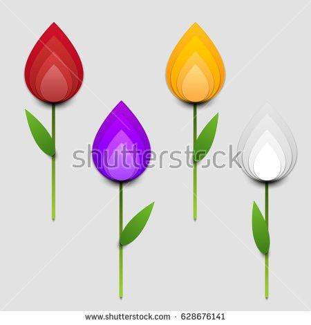 Paper Art Cartoon Water Drop Realistic Stock Vector 602988458 ...