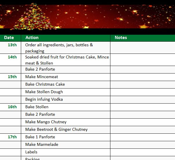 Holiday Checklist Template - My Excel Templates