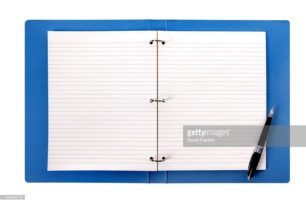 Blank Ring Binder With Lined Paper Stock Photo | Getty Images