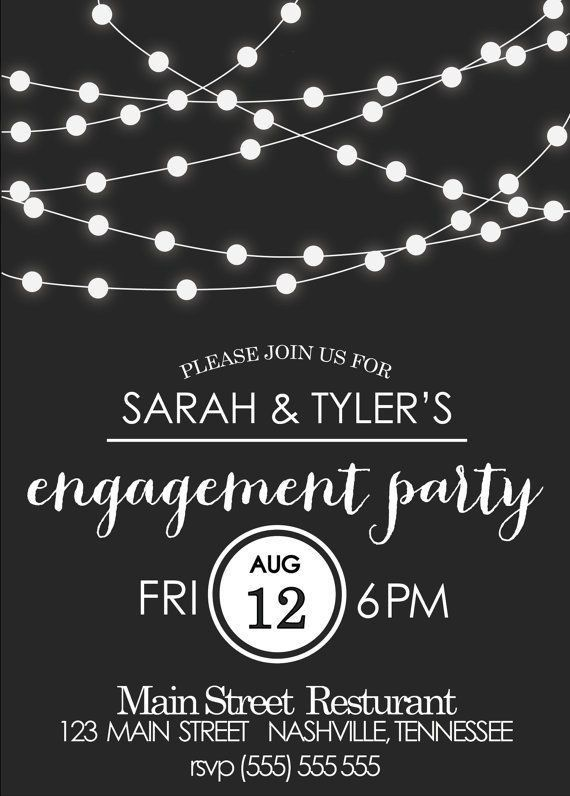 18 best invitations images on Pinterest | Engagement party ...