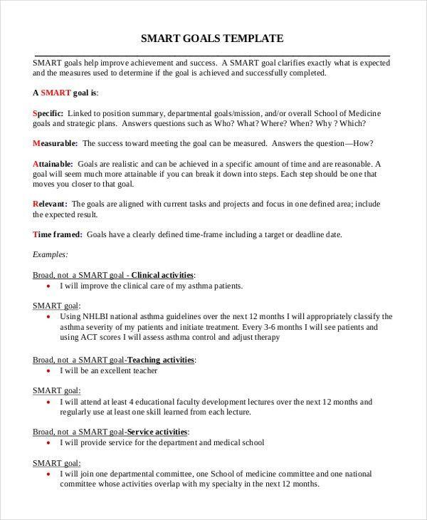 personal smart goals examples - thebridgesummit.co