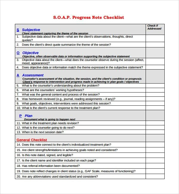 Soap Note Template. Sample Occupational Therapy Soap Note Google ...