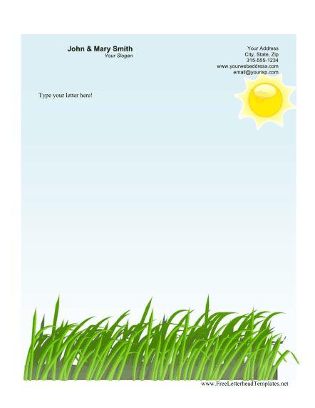 Agriculture Business Letterhead