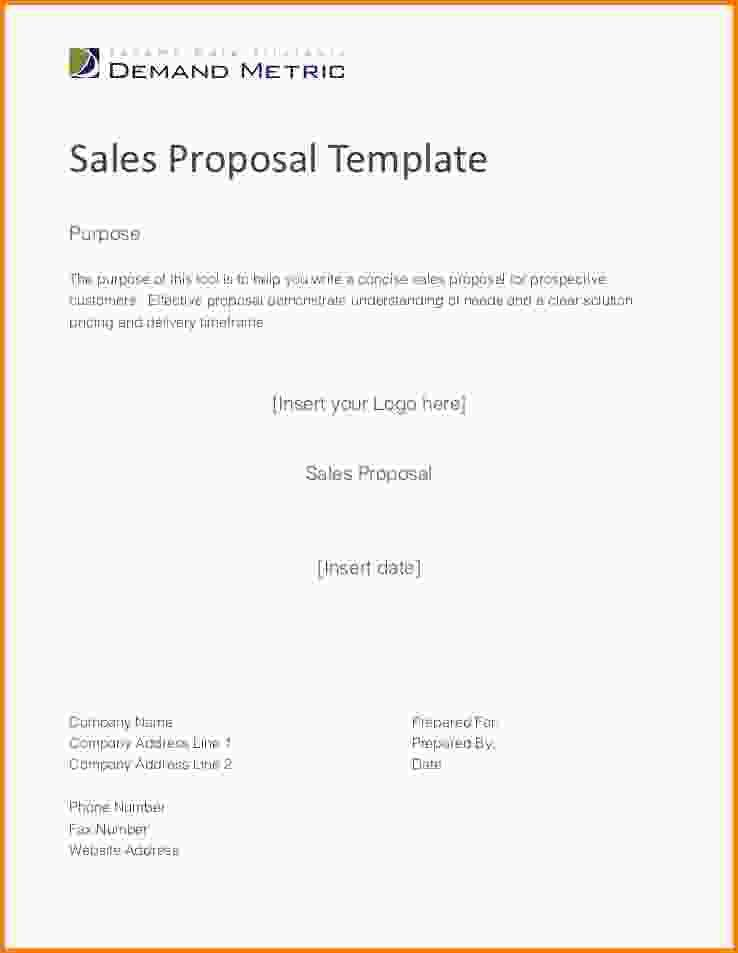 Product Sales Proposal Template. 12 sales proposal template pdf ...