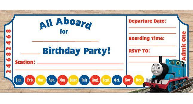 Thomas Birthday Invitations . Kids Birthday Parties . PBS Parents