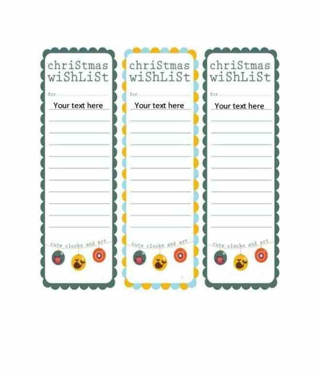 Wishlist Template. free printable letter to santa template cute ...