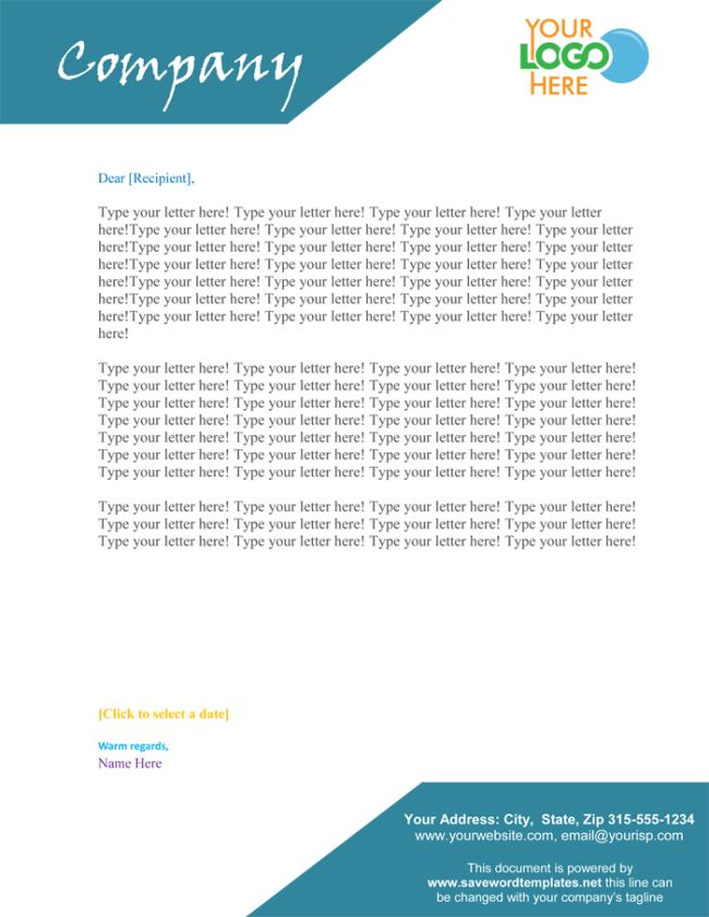 Letterhead Word Template - 5 Printable Layouts