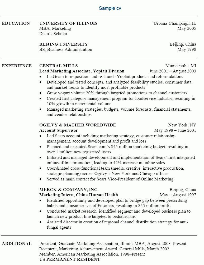 resume format for marketing job marketing resume sample resume