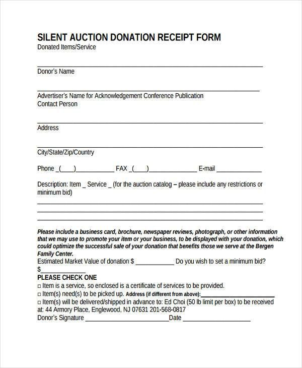 Acknowledgement Of Service Form. Cash Receipt 8+ Acknowledgement ...