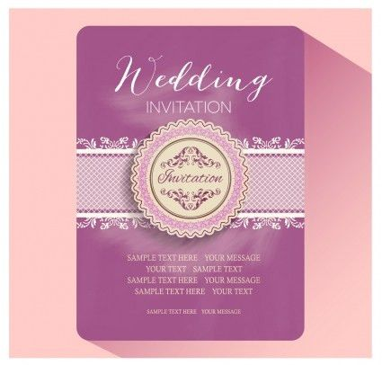 Elegant floral decor wedding invitation cards vector | free ...