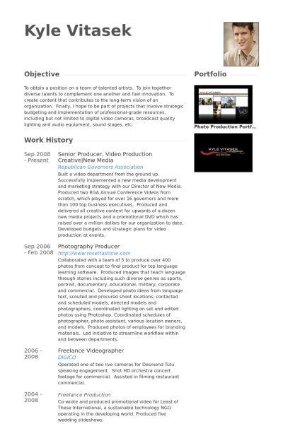 Senior Producer Resume samples - VisualCV resume samples database