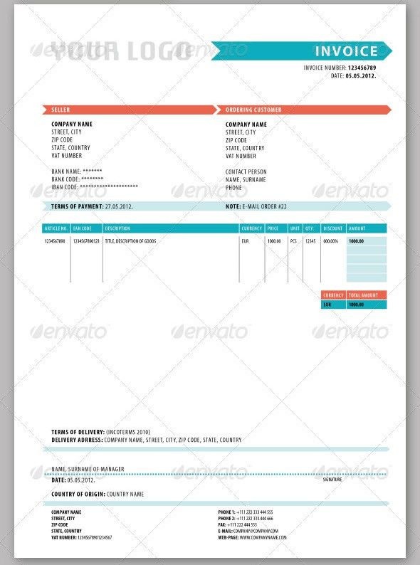 21 Useful Invoice InDesign Templates – Design Freebies