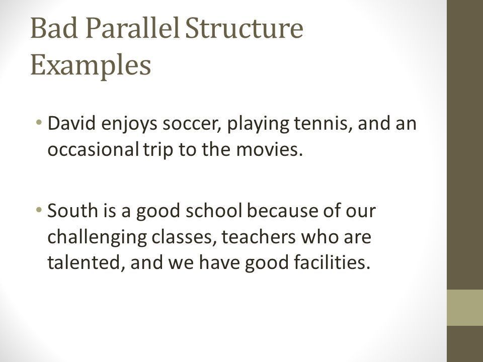 Parallel Structure, Subordinating Conjunctions/ Conjunctive ...