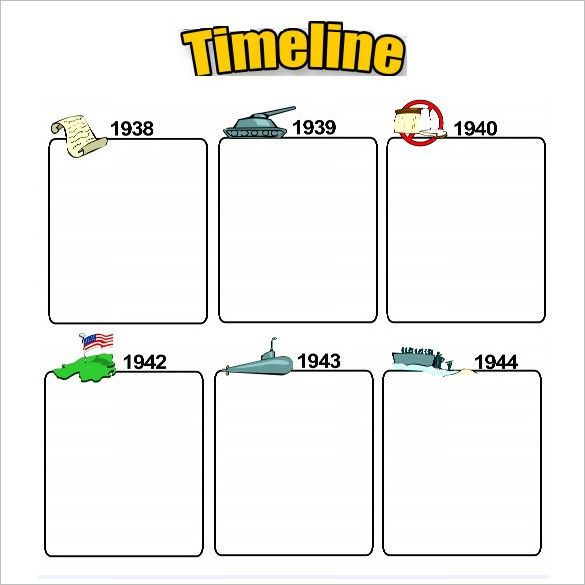 7+ Timeline Templates For Students – Free Word, PDF Format ...