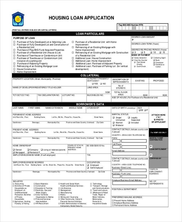 Sample Housing Application Form - 10+ Free Documents in PDF
