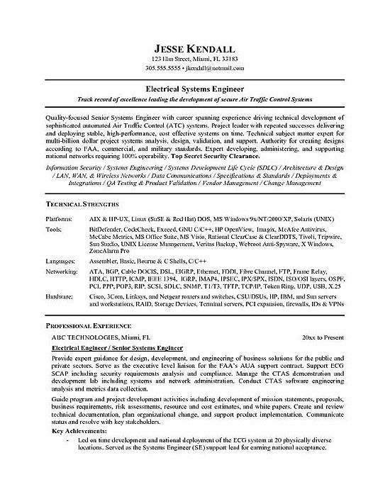 Technical Resume Template. Engineering Cv Template, Engineer ...