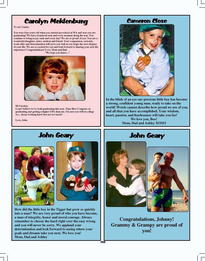 WA Yearbook - Parent Information