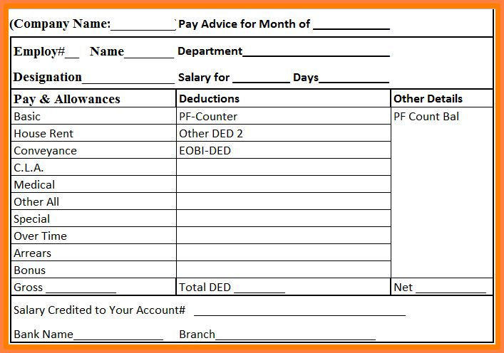 5+ employee salary details format in excel | Salary Bill Format