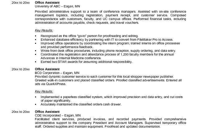 Resume Examples Sample Resume Administrative Assistant Doctor ...