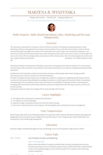 Vice President Of Sales Resume samples - VisualCV resume samples ...