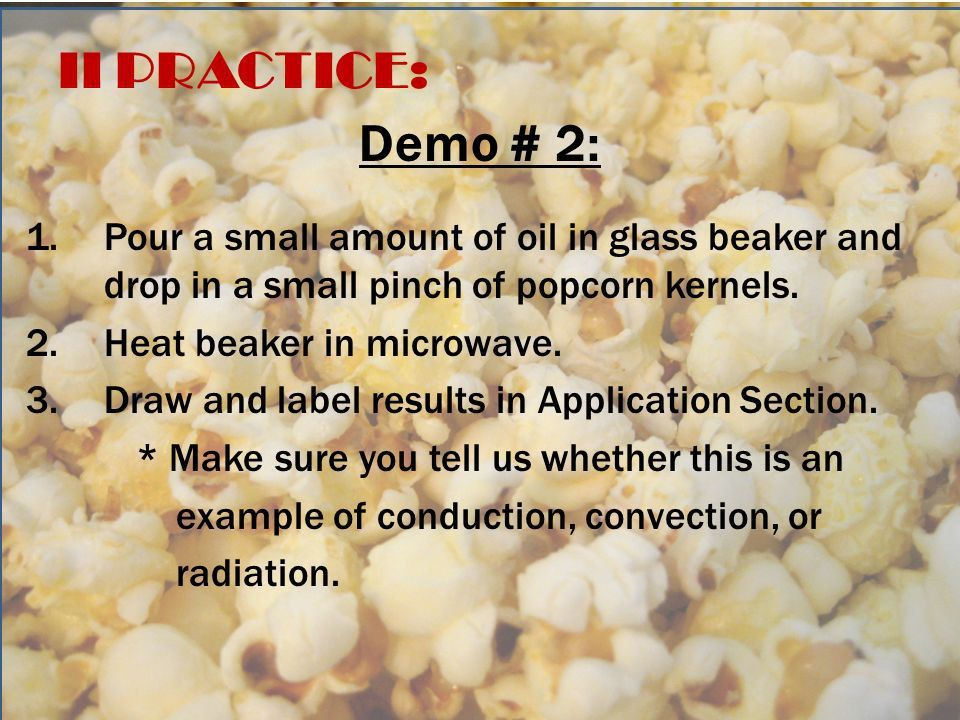 Conduction, Convection, Radiation I STARTER: Tape in your warm up ...