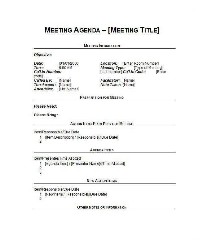 best meeting agenda template