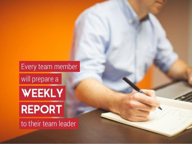 Let's Communicate!- Implementing Weekly Team Report Writing
