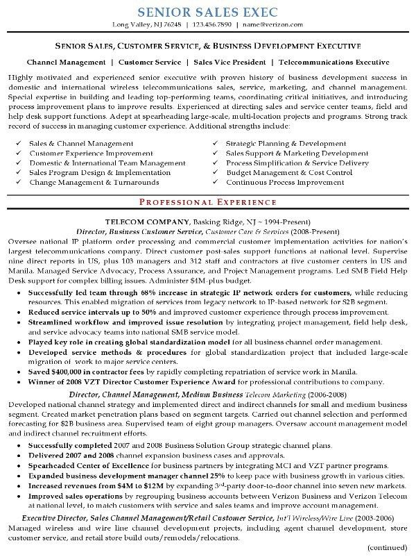 Resume Sample 16 - Senior Sales Executive resume - Career Resumes