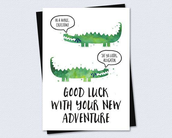 Farewell Card / Goodbye Card Good luck with by RiverRainDesigns ...